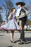 Folclore chileno tradicional Foto de archivo libre de regalías