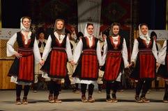 folclore del festival del international 10 en Lukavac 9 7 2016 Foto de archivo libre de regalías