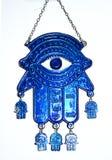 Folclore dell'occhio azzurro della mano di Fatima fotografia stock