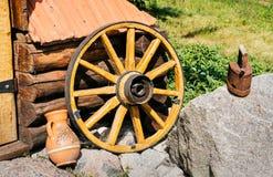Folclore details. Rustic clay pot  and iron. Rustic clay pot  and iron. Ukrainian folclore Royalty Free Stock Photos