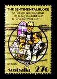 Folclore - engatado, serie australiano do folclore, cerca de 1983 fotografia de stock