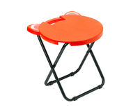 Fold able chair. A fold able plastic chair for outdoor activities stock images