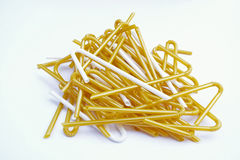 Fold-able joint of white milk plastic straw (Selective focus) wi Royalty Free Stock Images