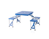 Fold able and portable picnic table Royalty Free Stock Photo