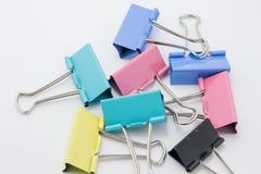 Fold back clips Royalty Free Stock Image
