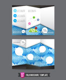 Fold Brochure background template 0001 Stock Photography