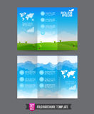 Fold Brochure background template 0002 Royalty Free Stock Photography