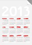 Fold corner paper calendar 2013 Stock Images