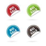 Fold flat circle icons Stock Photos