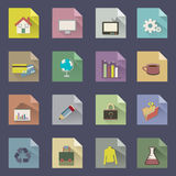 Fold paper app Royalty Free Stock Images