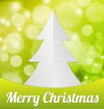 Fold Paper Christmas tree Stock Photos