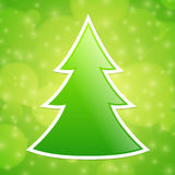 Fold Paper Christmas tree Royalty Free Stock Image