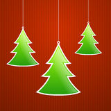 Fold Paper Christmas tree Stock Photography