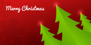 Fold Paper Christmas trees Stock Photography