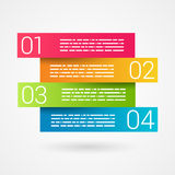 Fold ribbon numbered secuence chart infographic Royalty Free Stock Photos