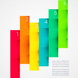 Fold ribbon numbered secuence chart infographic Stock Images