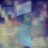 Fold ribbon secuence chart infographic template Stock Photos