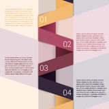 Fold ribbon secuence chart infographic template Royalty Free Stock Photography