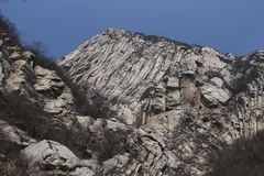 Fold rock cliff Stock Photography
