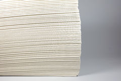 Fold of tissue. The fold of tissue with white background Stock Photography