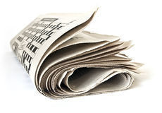 Fold up a newspaper Royalty Free Stock Photography