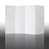 Fold white paper and reflect Stock Image