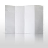 Fold white paper on white background Royalty Free Stock Photo