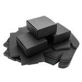 Foldable black paper boxes Royalty Free Stock Images