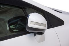 Foldable car mirror Stock Image