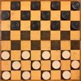 Foldable Drewniana szachownica zdjęcia royalty free