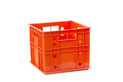 Foldable  plastic storage box on a white background Royalty Free Stock Image