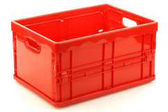 Foldable red plastic storage box Stock Photography