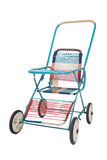 A foldable retro baby stroller Stock Images
