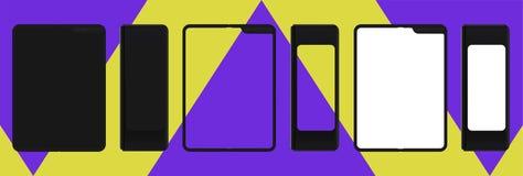 Foldable smartphone mockup vector illustration