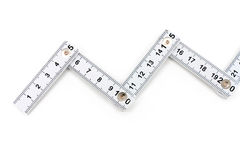 Foldable tape Measure. With white background Stock Images
