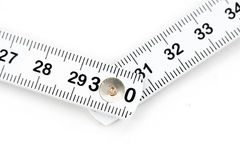 Foldable tape Measure. With white background Royalty Free Stock Images