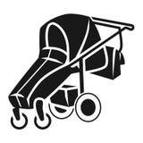 Foldable wózek spacerowy ikona, prosty styl ilustracji
