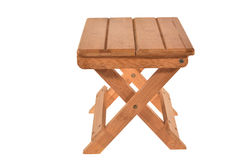 Foldable Wooden Stool Stock Image