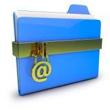 Folde blu Immagini Stock Libere da Diritti
