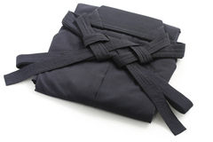 Folded aikido hakama , japanese martial arts unifo Royalty Free Stock Photography