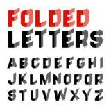 Folded alphabet letters Stock Photo
