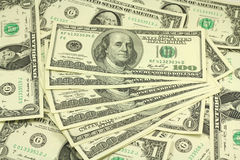 Folded American dollar bills. Texture Stock Image
