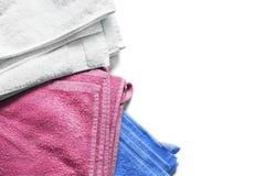 Folded bath towels Stock Photos