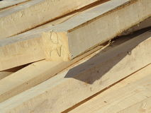 The folded beam for construction Royalty Free Stock Photos