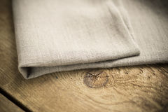 Folded Beige Cotton Fabric or Linen Royalty Free Stock Images