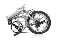 Folded Bike. Folded collapsible folding bicycle bike Royalty Free Stock Photos