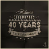 Folded Black Sailing Anniversary Royalty Free Stock Photos