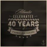 Folded Black Sailing Anniversary Royalty Free Stock Photos