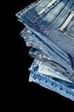 Folded blue Denim jeans Royalty Free Stock Images