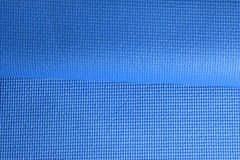Folded Blue Fitness mat texture Royalty Free Stock Photo